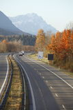 Highway and mountains Stock Image