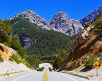 Highway in the mountains Royalty Free Stock Image