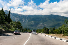 The highway in mountains Royalty Free Stock Photo