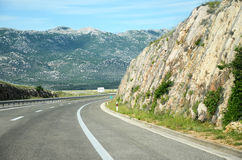 Highway through the mountains Stock Image