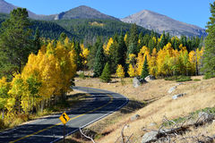 Highway in the mountains in the fall Stock Photography