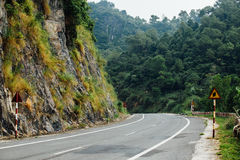 Highway in the mountains, jungle background. landscape, backgrou Stock Image