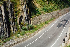 Highway in the mountains, jungle background. landscape, backgrou Royalty Free Stock Image