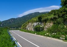 Highway in the mountains royalty free stock images