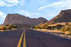 Highway through mountains Royalty Free Stock Images