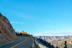 Highway and Mountains Stock Images