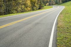 Natchez Trace Parkway. A highway of Natchez Trace Parkway in Tennessee, fall colors in late October royalty free stock photo