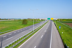 Highway in nature Royalty Free Stock Photos