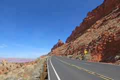 Highway 89 Near Bitter Springs. The Vermillion Cliffs in the distance shot on roadside of highway 89 just outside of Bitter Springs, Arizona, USA Royalty Free Stock Photo