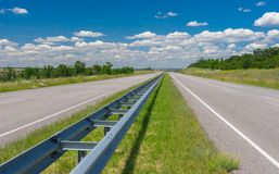 Highway near Dnepropetrovsk city, Ukraine Stock Images