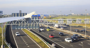 Highway near the international airport in Royalty Free Stock Photography