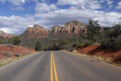 Highway near Sedona Stock Photography