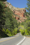 Highway near Sedona, Arizona Royalty Free Stock Photos