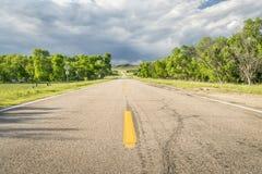 Highway in Nebraska Sandhills Stock Images