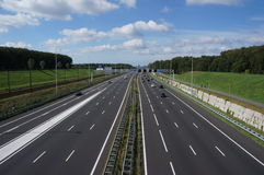 A12 highway in the Netherlands royalty free stock images
