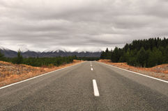 The highway in new zealand Stock Photo