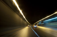 Highway at night. Night view on the street with lights blur Royalty Free Stock Image