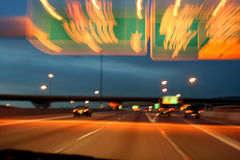 Highway at Night Royalty Free Stock Photography