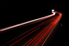 Highway night Royalty Free Stock Photo