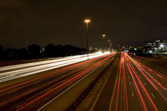 A Highway at Night Royalty Free Stock Photography