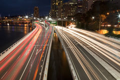 Highway By Night Royalty Free Stock Images