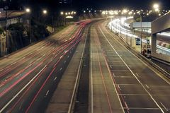Highway At Night royalty free stock image