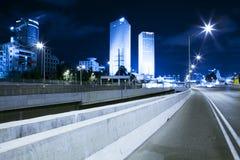 Highway at Night Royalty Free Stock Photo