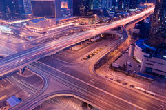 Highway at Night. Cars on the highway at night - a transportation/traffic concept image Stock Image