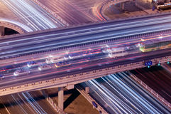 Highway at Night. Cars on the highway at night - a transportation/traffic concept image Stock Photos
