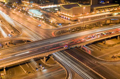 Highway at Night. Cars on the highway at night - a transportation/traffic concept image Royalty Free Stock Image