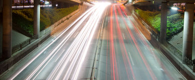 The highway at night Stock Photos