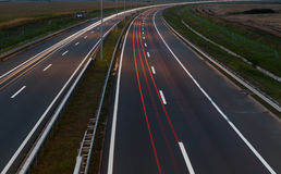 Highway by night Stock Photography