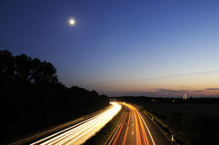 Highway at night, Germany Royalty Free Stock Images