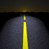 Highway at night Royalty Free Stock Photos