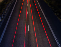 Highway at night Stock Image