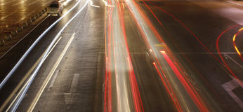 The highway at night Royalty Free Stock Photos