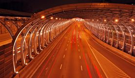 Highway night shot Royalty Free Stock Images