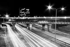 Highway at night. In Tallinn city, Estonia Stock Photo