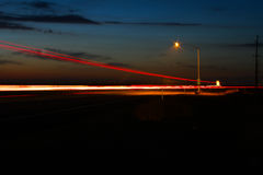 Highway 99 Night Time Stock Images