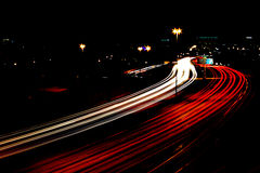 Highway Night Traffic Stock Images