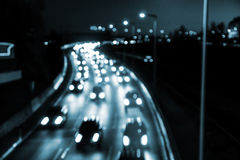 Highway by night Stock Image