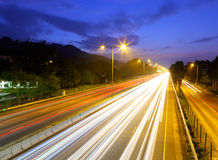 Highway at night Royalty Free Stock Photo