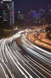 Highway Night Vert Royalty Free Stock Photo