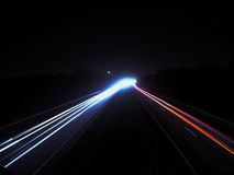 Highway. A1 nightlapse gopro twente overijssel royalty free stock photography