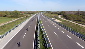 Highway. With no cars on road Royalty Free Stock Image