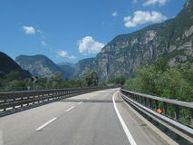 Highway in North Italy Stock Photos