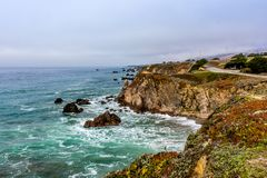 Highway 1 in Northern California royalty free stock photo