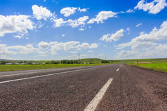 Highway, Open views and sunny weather to travel. Stock Images