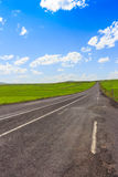 Highway, Open views and sunny weather to travel. Royalty Free Stock Photography