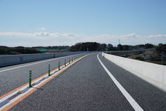 Highway before opening. Ibaraki, Japan-February 12,, 2017: A highway was exhibited two weeks before the official opening Royalty Free Stock Images